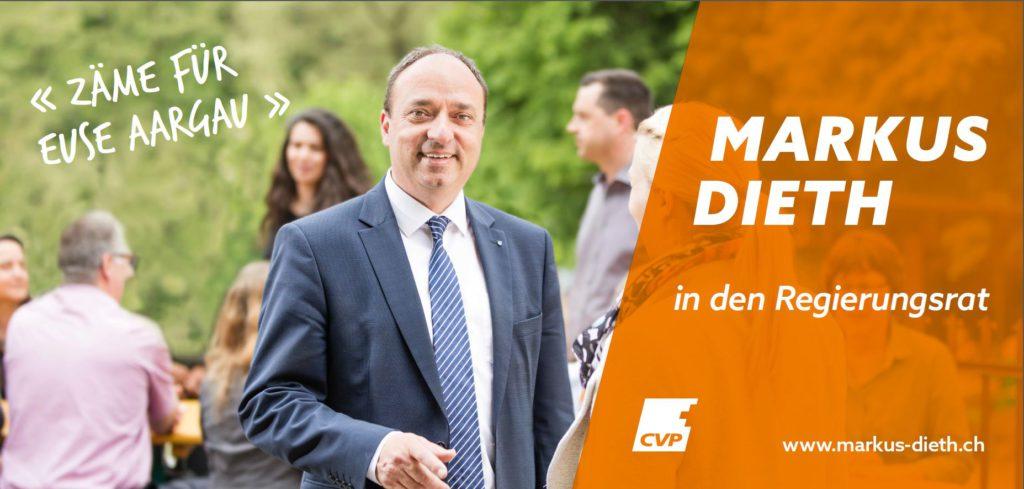 Markus Dieth in den Regierungsrat_Plakat