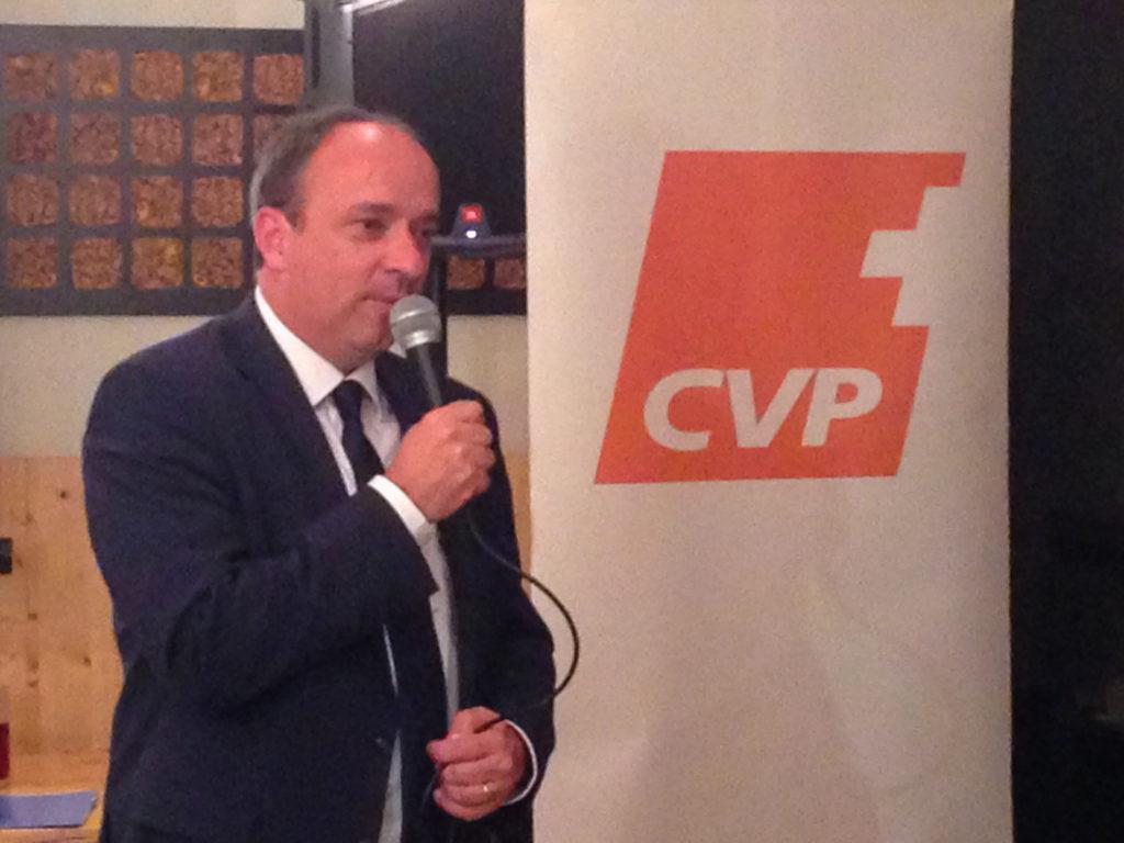 Der Dank von Markus Dieth geht an Familie, das gesamte Wahlteam und natürlich die CVP Wettingen.